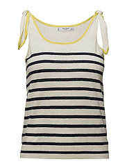 Mango - Bow Striped Top