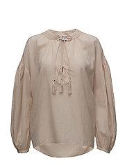 Puffed sleeves blouse - LT-PASTEL PINK