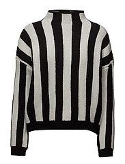 Stripe pattern sweater - LIGHT BEIGE
