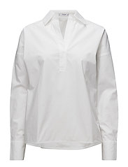 Oversize cotton blouse - WHITE