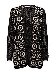 Crochet cardigan - BLACK
