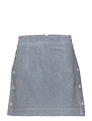 Stitch leather skirt - LT-PASTEL BLUE