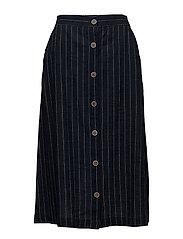 Pinstripe skirt - NAVY