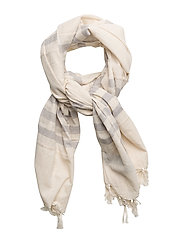 Striped monochrome scarf - LT PASTEL GREY