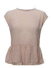 Ruffled plumeti blouse - PINK