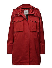 Detachable hood parka - RED
