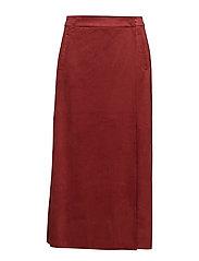 Midi wrap skirt - RED