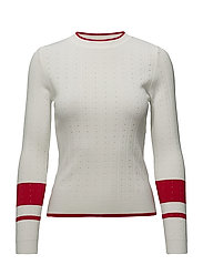 Openwork knit sweater - LIGHT BEIGE