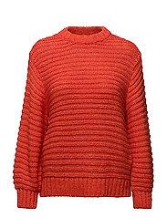 Oversize flecked sweater - ORANGE