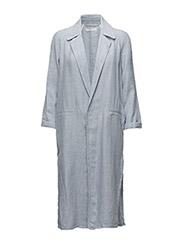 Linen-blend jacket - LT-PASTEL BLUE