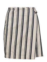 Striped wrap skirt - NAVY
