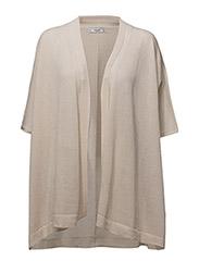 Fine-knit cardigan - LT PASTEL GREY