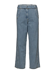 Belt relaxed jeans - OPEN BLUE