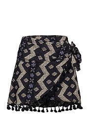 Tassel printed skirt - NAVY