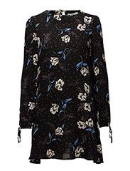 Sleeve detail dress - BLACK