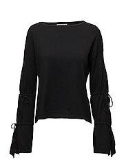 Sleeve detail swearshirt - BLACK
