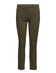 Zipped straight trousers - BEIGE - KHAKI