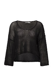 Oversize cotton sweater - BLACK