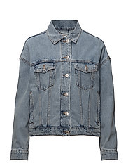 Crop denim jacket - OPEN BLUE