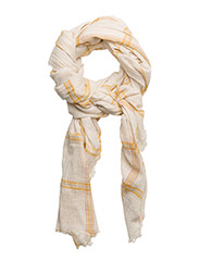 Check cotton scarf - WHITE