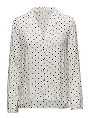 Buttoned flowy shirt - NATURAL WHITE