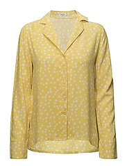Buttoned flowy shirt - YELLOW