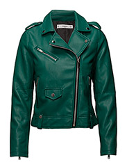 Appliqu biker jacket - GREEN