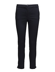 Crop slim-fit trousers - NAVY