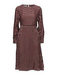 Mango - Striped Midi Dress