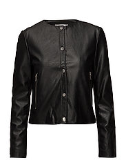 Buttoned jacket - BLACK