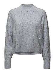 High collar sweater - MEDIUM BLUE