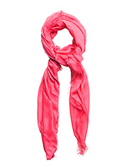 Frayed edge scarf - BRIGHT PINK