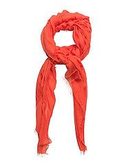 Frayed edge scarf - LT-PASTEL ORANGE