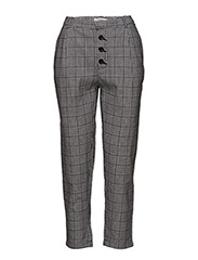 Prince of Wales suit trousers - BLACK