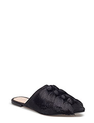 Fringed leather shoes - BLACK
