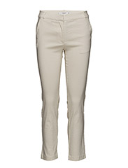 Straight linen-blend trousers - LIGHT BEIGE