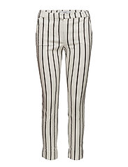 Crop slim-fit trousers - NATURAL WHITE