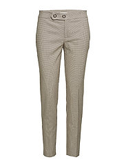 Check suit trousers - MEDIUM BROWN