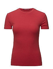Ribbed t-shirt - RED