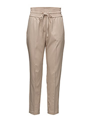Ruched waist trousers - LT PASTEL BROWN