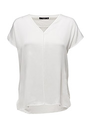 Contrasting t-shirt - NATURAL WHITE