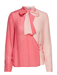 Two-tone flowy blouse - PINK