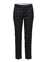 Mango - Straight Checkered Trousers