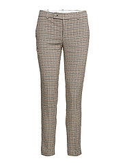 Straight checkered trousers - BROWN