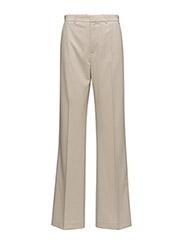 High-waist palazzo trousers - LIGHT BEIGE