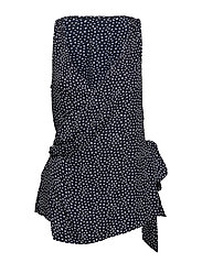 Bow print top - NAVY