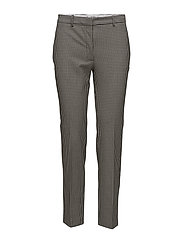 Gingham suit trousers - WHITE