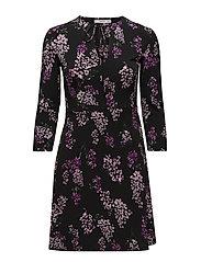 Cord textured dress - LT-PASTEL PURPLE