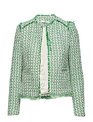 Pocket tweed jacket - GREEN