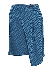 Flowy printed skirt - MEDIUM BLUE